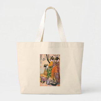 Vintage Japanese Geisha Artwork Large Tote Bag