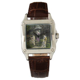 Vintage Japanese Geisha Visiting Park in Old Japan Wristwatches