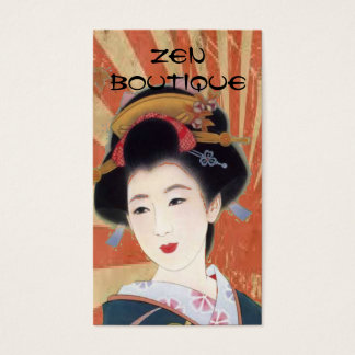 vintage japanese geisha Zen boutique business card