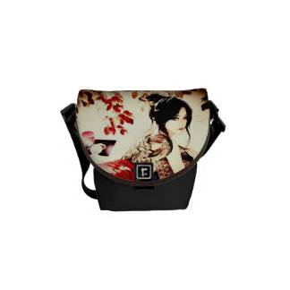 Vintage Japanese Girl Courier Bags