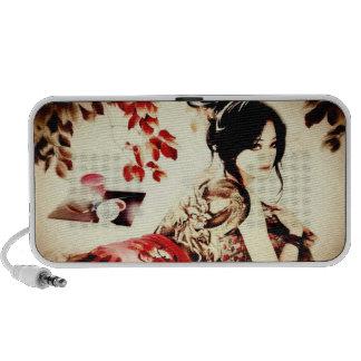 Vintage Japanese Girl iPhone Speakers
