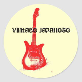 Vintage Japanese Guitar Sticker