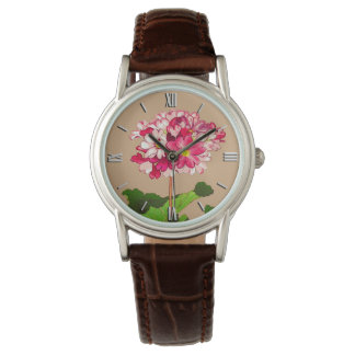 Vintage Japanese Hydrangea. Pink and Green Watch