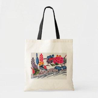Vintage Japanese KIMONO Floral Pattern