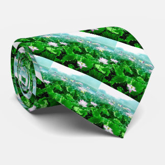 Vintage Japanese Lotus Pond Old Japan Tie