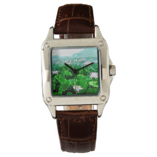 Vintage Japanese Lotus Pond Old Japan Watch