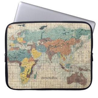 Vintage Japanese Map of the World 1 Laptop Sleeve