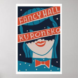 Vintage japanese matchbox cover (Fancy Hall) Poster