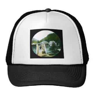 Vintage Japanese Morning Crossing Bridge Old Japan Trucker Hat
