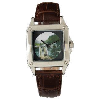 Vintage Japanese Morning Crossing Bridge Old Japan Wrist Watches