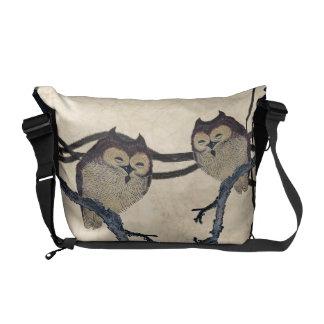 Vintage Japanese Owls Messenger Bag