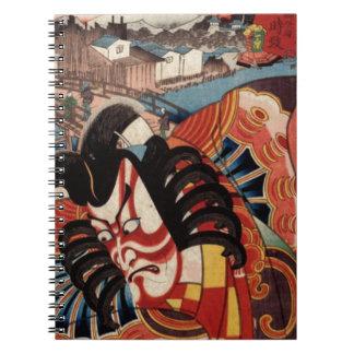 Vintage Japanese Painting - Kabuki Actor Notebook