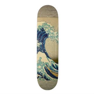 Vintage Japanese Painting Of Great Wave Skate Deck