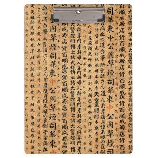 Vintage Japanese Paper Prints Clipboard