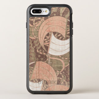Vintage Japanese Pink Gold Metallic Textile Art OtterBox Symmetry iPhone 8 Plus/7 Plus Case