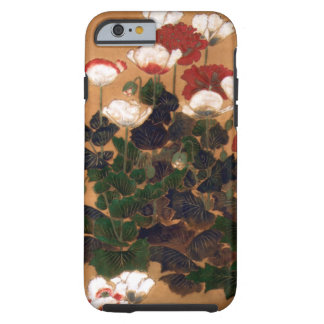 Vintage Japanese Poppies Tough iPhone 6 Case