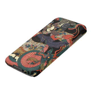 Vintage Japanese Red and Green Dragon Galaxy S5 Cover