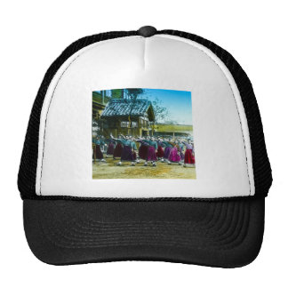 Vintage Japanese School Girls Exercising Japan Trucker Hat