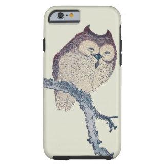 Vintage Japanese Sleeping Owl Tough iPhone 6 Case