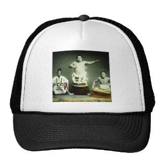 Vintage Japanese Sumo Wrestlers Old Japan Trucker Hat