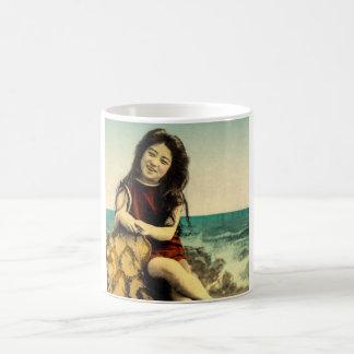 Vintage Japanese Swimsuit Bathing Beach Beauty Coffee Mug