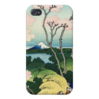 Vintage Japanese View of Mt. Fuji Cases For iPhone 4