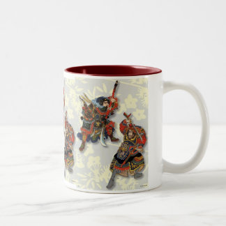 Vintage Japanese Warrior Two-Tone Coffee Mug