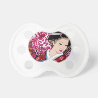 Vintage Japanese Woman in Kimono Baby Pacifier