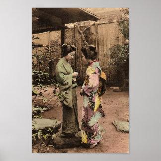 Vintage Japanese Women Poster