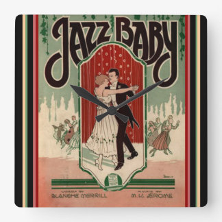 "Vintage ""Jazz Baby"" Sheet Music Wall Clock"