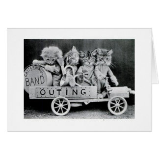 Vintage - Jazz Cats in Caterwaul Band, Card