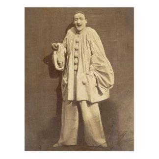 Vintage Jean-Gaspard Deburau French Mime Postcard