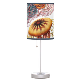 Vintage Jellyfish by Ernst Haeckel, Discomedusae Table Lamp
