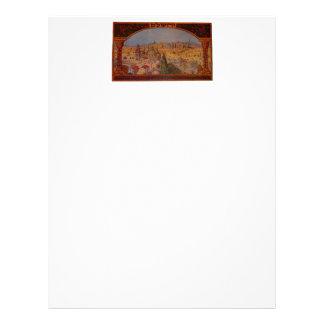 Vintage Jerusalem Personalized Letterhead