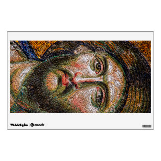 Vintage Jesus Christ Portrait Medieval Mosaic Wall Decal