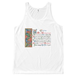 Vintage Jesus is the Meaning of Christmas Card All-Over-Print Tank Top