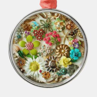 Vintage Jewels Christmas Ornament