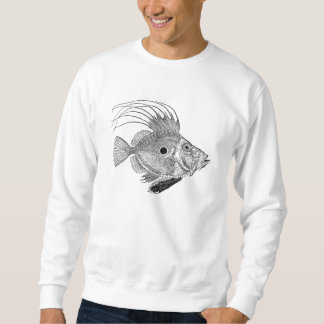Vintage John Doree Fish - Aquatic Fishes Template Sweatshirt