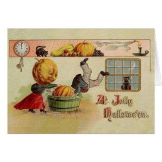 Vintage Jolly Halloween Greeting Card