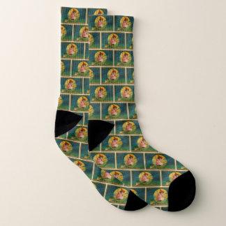 Vintage Jolly Halloween Witch Socks