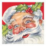 Vintage Jolly Retro Santa Claus Christmas Party