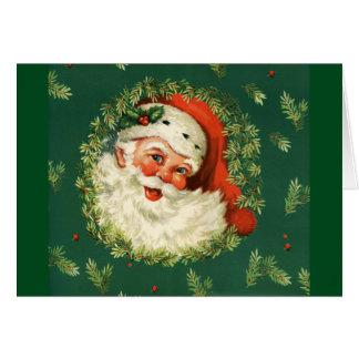Vintage Jolly Santa Card