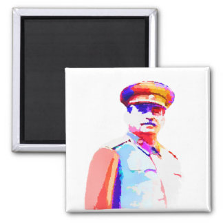 Vintage Joseph Stalin WW2 Russia Dictator Colorful Magnet
