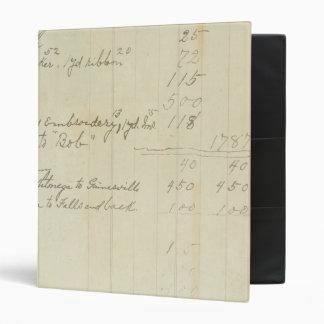 Vintage Journal Handwriting 3 Ring Binders