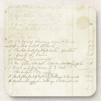 Vintage Journal Handwriting Coaster