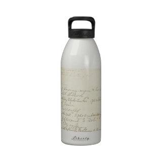 Vintage Journal Handwriting Drinking Bottles