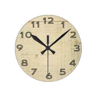 Vintage Journal Page Background Clocks