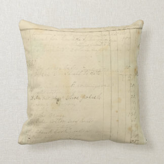 Vintage Journal Page Background Throw Pillow
