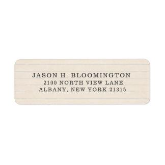 Vintage Journal Paper Typestyle | Return Address Return Address Label