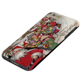 Vintage Joyful Christmas Tough iPhone 6 Plus Case